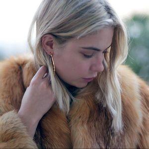 14k Gold Plated Hoop Earrings (Natalie B)